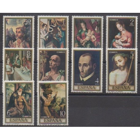 Spain - 1970 - Nb 1812/1821 - Religion - Paintings
