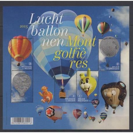 Belgium - 2015 - Nb 4530/4534 - Hot-air balloons - Airships