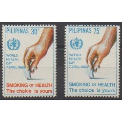 Philippines - 1980 - Nb 1188/1189 - Health or Red cross