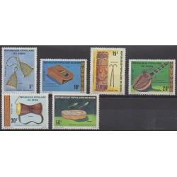 Benin - 1980 - Nb 478/483 - Music