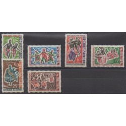 Dahomey - 1964 - Nb 205/210 - Folklore