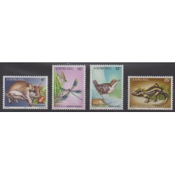 Luxembourg - 1987 - Nb 1118/1121 - Animals - Endangered species - WWF