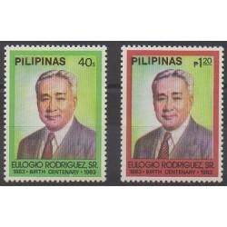 Philippines - 1983 - Nb 1302E/1302F - Celebrities