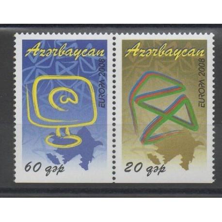 Azerbaïdjan - 2008 - No 611a/612a - Littérature