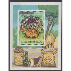 Guinea-Bissau - 1976 - Nb BF3 - Masks or carnaval - Folklore
