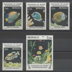 Monaco - 1985 - No 1483/1487 - Fishes