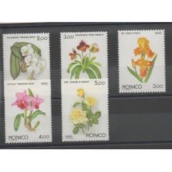 Monaco - 1990 - No 1710/1714 - Fleurs