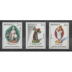Monaco - 1990 - Nb 1743/1745 - Christmas