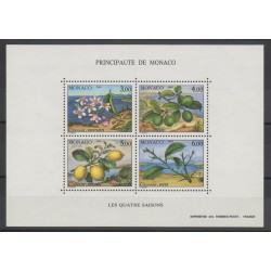 Monaco - Blocs et feuillets - 1990 - No BF 51 - Fleurs