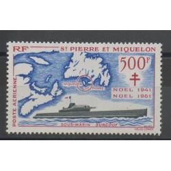Saint-Pierre et Miquelon - 1962 - No PA 28 - neuf avec charnière - Seconde Guerre mondiale