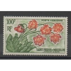 Saint-Pierre et Miquelon - 1962 - No PA 27 - Fleurs