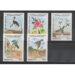 Monaco - 1991 - No 1754/1758 - Oiseaux