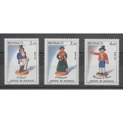 Monaco - 1991 - Nb 1794/1796 - Christmas