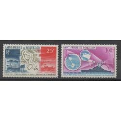 Saint-Pierre et Miquelon - 1967 - No PA38/PA39 - de Gaulle