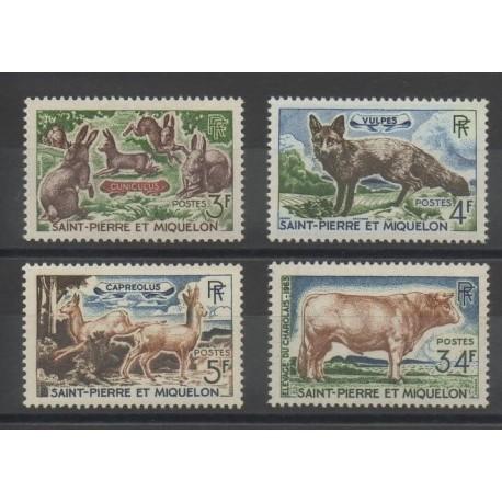 Saint-Pierre et Miquelon - 1964 - No 372/375