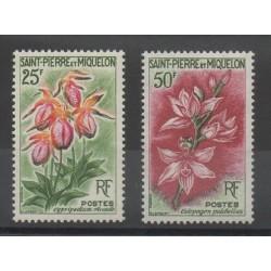 Saint-Pierre et Miquelon - 1962 - No 362/363 - Fleurs