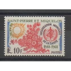 Saint-Pierre et Miquelon - 1968 - No 379 - Santé ou croix-rouge