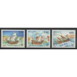 Monaco - 1992 - Nb 1825/1827 - Boats
