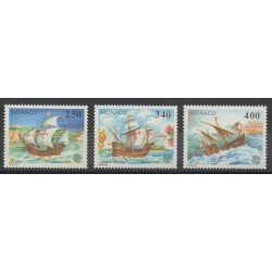 Monaco - 1992 - No 1825/1827 - Bateaux