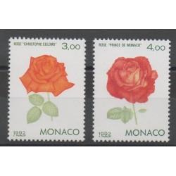 Monaco - 1992 - Nb 1839/1840 - Roses