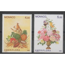 Monaco - 1992 - Nb 1830/1831 - Fruits