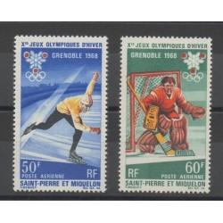 Saint-Pierre et Miquelon - 1968 - No PA40/PA41