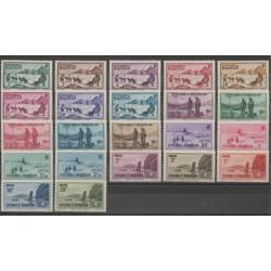 Saint-Pierre et Miquelon - 1938 - No 167/188 - neuf avec charnière