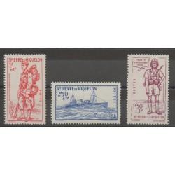 Saint-Pierre et Miquelon - 1941 - No 207/209 - neuf avec charnière