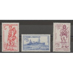 Saint-Pierre and Miquelon - 1941 - Nb 207/209 - mint hinged