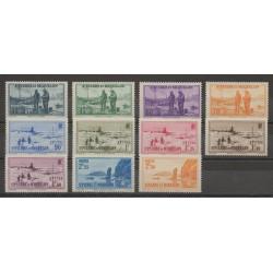 Saint-Pierre and Miquelon - 1939 - Nb 196/206 - mint hinged