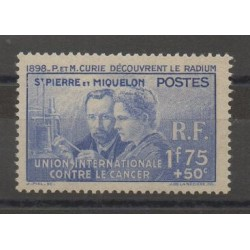 Saint-Pierre and Miquelon - 1938 - Nb 166 - mint hinged