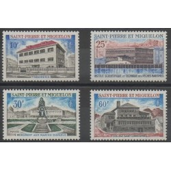 Saint-Pierre et Miquelon - 1969 - No 387/390 - Monuments