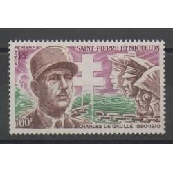 Saint-Pierre et Miquelon - 1972 - No PA 53 - de Gaulle