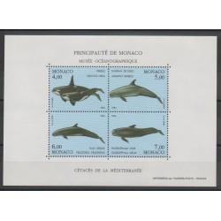 Monaco - Blocs et feuillets - 1994 - No BF 64 - Vie marine