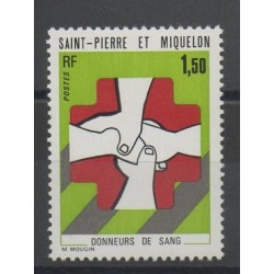Saint-Pierre et Miquelon - 1974 - No 436 - Santé ou croix-rouge