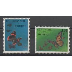 Saint-Pierre et Miquelon - 1975 - No 441/442 - Papillons