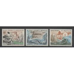 Saint-Pierre et Miquelon - 1974 - No 438/440 - Eglises