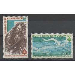 Saint-Pierre et Miquelon - 1976 - No 450/451 - Jeux olympiques d'été