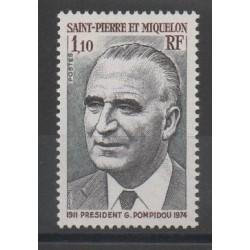 Saint-Pierre et Miquelon - 1976 - No 448 - Célébrités