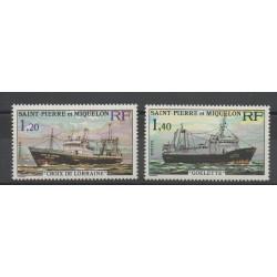 Saint-Pierre et Miquelon - 1976 - No 453/454 - Bateaux