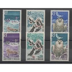 Saint-Pierre et Miquelon - 1973 - No 425/430 - Oiseaux - Rapaces