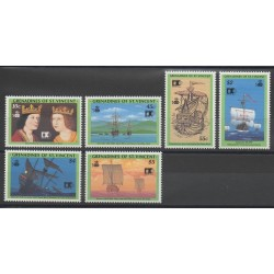 Saint Vincent (Grenadines) - 1992 - Nb 724/729 - Christopher Colombus