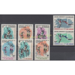 Congo (Republic of) - 1965 - Nb 580/585 - 655/656 - Sport