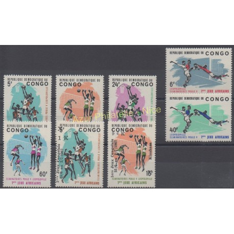 Congo (République du) - 1965 - No 580/585 - 655/656 - Sport