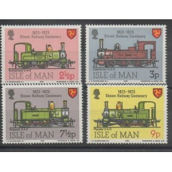 Man (Ile de) - 1973 - No 18/21 - Trains