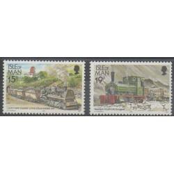 Man (Ile de) - 1990 - No 424/425 - Trains