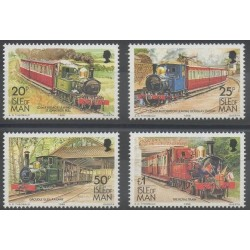 Man (Ile de) - 1988 - No 381/384 - Trains