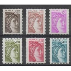 France - Variétés - 1981 - No 2118b/2123b