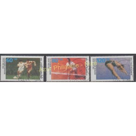 Allemagne occidentale (RFA) - 1988 - No 1185/1187 - Sport - Oblitéré