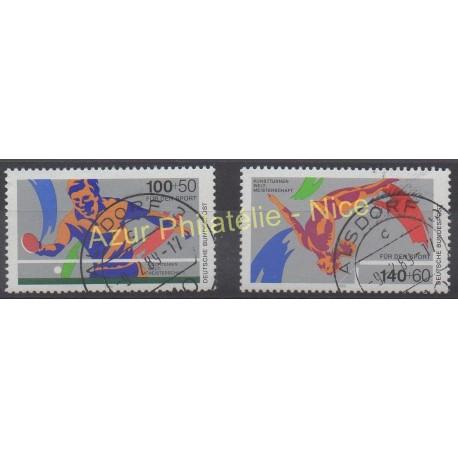 Allemagne occidentale (RFA) - 1989 - No 1240/1241 - Sport - oblitéré